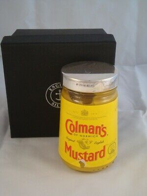 Solid Silver Fully Hallmarked Colman's Mustard Jar Lid - To Fit 170g Jar - A/F