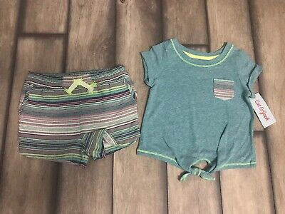 Toddler Girls Cat N Jack Two Piece Set Shirt And Shorts NWT 3T