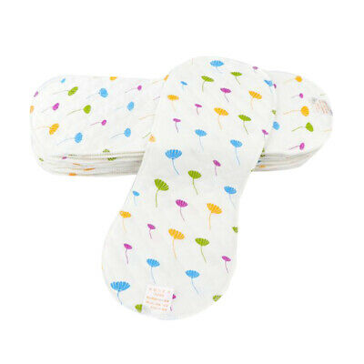 Baby Diapers Cotton Reusable Washable Newborn Caring Cloth Diaper Inserts G