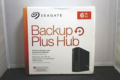 Seagate Backup Plus Hub 6TB External Desktop Storage STEL6000100 LOOK!! NIB