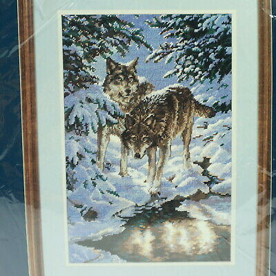 Sunset Needlepoint Kit Wintry Wolves 12126 Persis Clayton Weirs