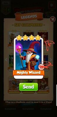 Coin Master Card's Bundle *** Holy Monk & Mighty wizard *** ( Fastest Delivery)