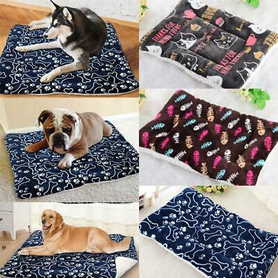 Pet Bed Mattress Dog Cat Cushion Pillow Mat Blanket Soft Winter Warm Extra Fast