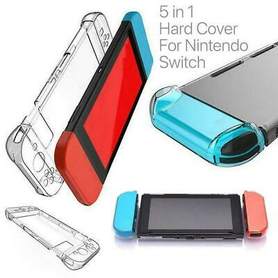 For Nintendo Switch Transparent Clear Shockproof Protective Case Cover Hard E8D2
