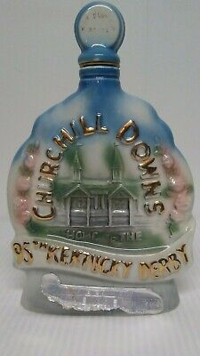 Vintage 1969 Jim Beam 95th Kentucky Derby Whiskey Decanter Bottle