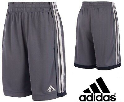 d782f259a24f NEW ADIDAS DYNAMIC Speed Shorts Boys 5 6 Striped Gray Bottoms Soccer Futbol  $28