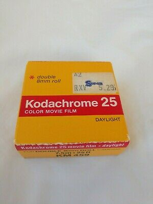 Kodachrome 25 Color Movie Film Daylight double 8 mm roll 7.5 m 25 feet KM 459