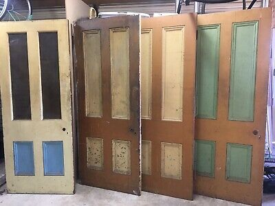 Solid Timber Doors,4 of the same. 40mm Thick Red Pine. 4Panel Design .