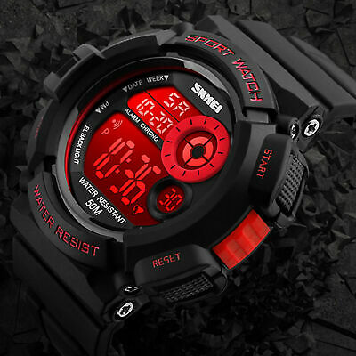 Men's Army SHOCK Sport Quartz Wrist Day Date Digital Watch Waterproof Military