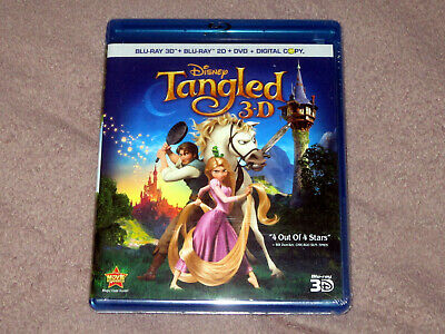 Tangled 4 Disc 3D Bluray + 2D Bluray + DVD brand new sealed free shipping