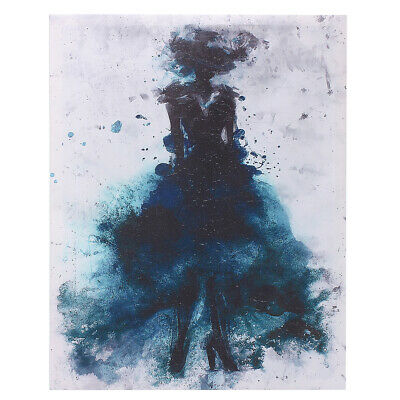 Watercolor Fashion Girl Abstract Art Canvas Print Oil Painting Poster Home  UK