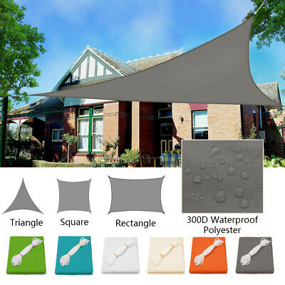 Sun Shade Sail Rectangle/Square/Triangle Canopy Garden Patio Awning Sunscreen UK