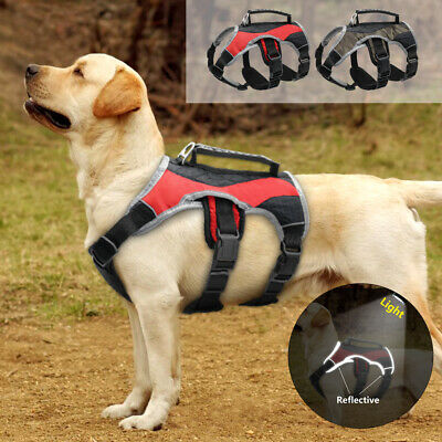No Pull Dog Harness with Handle Reflective Harness Vest for Dobermans Labrador