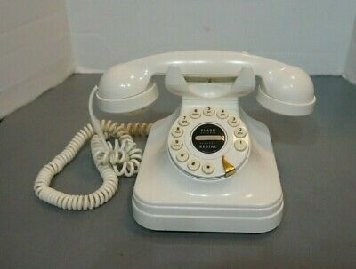 Vintage FLASH REDIAL Push Button Telephone Model GRAND PHONE IVORY - Tested!!!