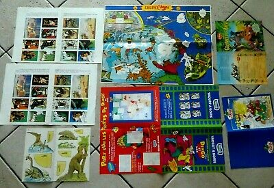 Walt Disney 7 Encarts Publicites Du Journal De Mickey Dingo Nestle Chupa Chups