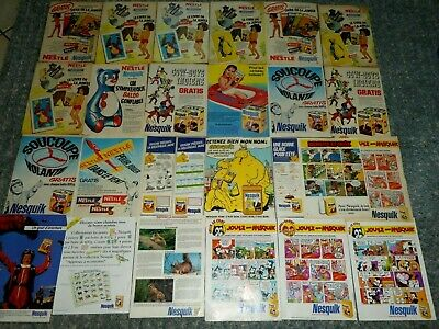 Nesquik Lot 26 Publicites Groquik Le Livre De La Jungle Nestle No Benco Banania