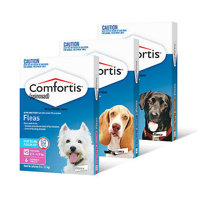 Comfortis™ Spinosad for Dogs: Flea medication for All sizes - Pack of 6