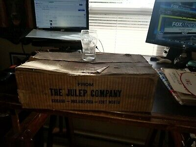 Rare Full Case of 18 Julep Soda Glasses With Syrup Lines 1920's New Old Stock