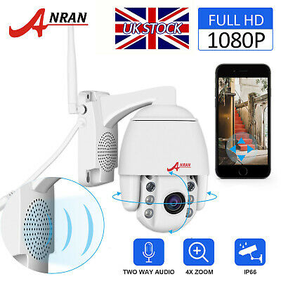 Wireless 4X ZOOM Outdoor CCTV PTZ HD 1080P WIFI IP Camera Dome Security IR Night