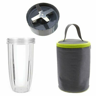 32 oz Cup, Extractor Blade and Blast Off Bag for NutriBullet NB-101B NB-101S