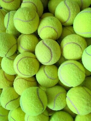 4 6 8 or 10 Used Tennis Balls For Dogs - Machine Washed To Remove All Chemicals