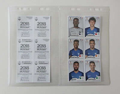 PANINI FOOT World Cup RUSSIA 2018 WC update sheet   6 extra stickers team FRANCE