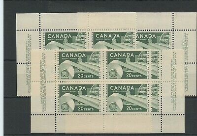 20 cent Pulp and paper matched set VF MNH Canada mint