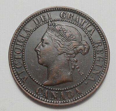 1886 OBV.#1 Large Cent VF-EF ** HIGH Grade SCARCE Variety Victoria Canada Penny