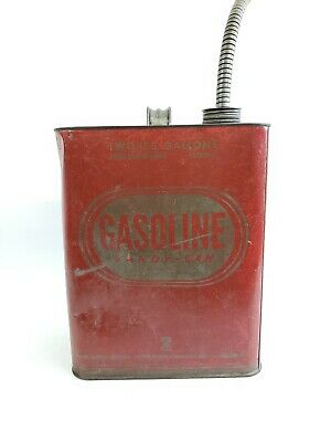 Vintage Huffy Huffman 2.5 Gallon Gas Gasoline Can Metal with Spout Dayton Ohio