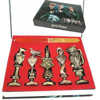 Harry Potter Hogwarts School Badge Vintage Wax Seal Stamp Set Collections Gift
