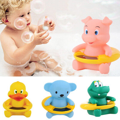 Ln_ Animals Floating Bath Thermometer Safety Baby Bath Measure Water Temperatu