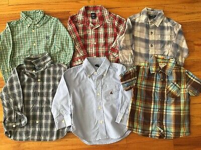 Lot Of 6 Toddler Boy 2T Causal Dress Button Down Shirts Chaps Cherokee GAP Tommy