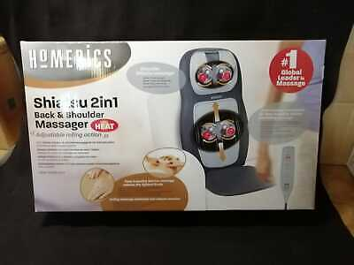 HoMedics cuscino massaggiante Shiatsu and Shoulder Massager + Heat Massage Chair