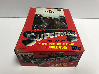1981 Topps SUPERMAN II Trading Card Box (36 packs 11 cards 1 sticker per pack)