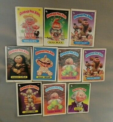 1985 Garbage Pail Kids Series 2 - Lot Of 10 Cards