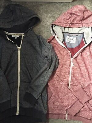 M&S Next Boy's Hooded Sweatshirts hoodies  Blue & Burgundy age 11-12