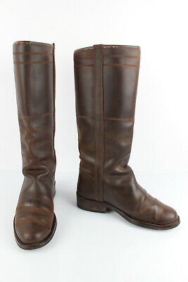VALVERDE DEL CAMINO Women's Brown Leather Western Boots