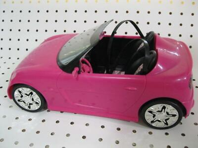 BARBIE COUPE GLAM CONVERTIBLE PINK Car-2009 ALL MIRRORS/SEATBELTS Doll house