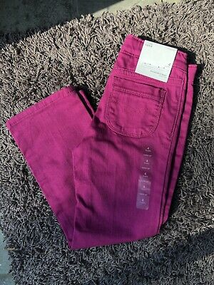 Toddler Girl Size 4 4T Baby Gap Pink Adjustable Stretch Fit Denim Jeans NEW