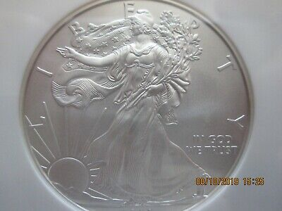 2008 W Burnished $1 American Silver Eagle, NGC MS 70, Very Nice!