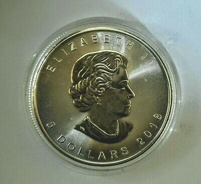 CANADA 1 once argent fin  999 maple leaf  2018 UNC