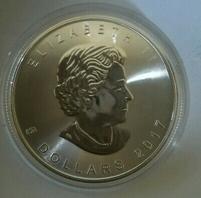 CANADA 1 once argent fin  999 maple leaf  2017 UNC