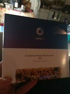 Medifast Optavia Cranberry Honey Nut Granola Bar (Box)  7 bars