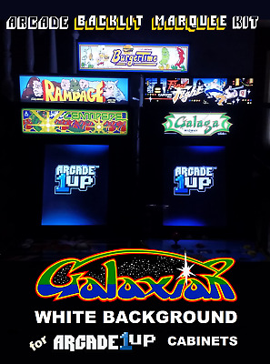 Arcade1up Galaxian Backlit Marquee Kit for Arcade1up Cabinets - Green