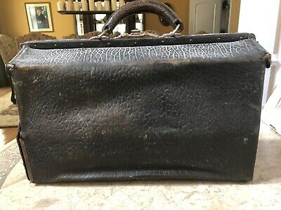 1930's Medical Doctors Bag COMPLETE With Contents Rare Find Great Condition