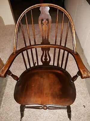 Vintage/Antique Windsor-style wooden rocking chair