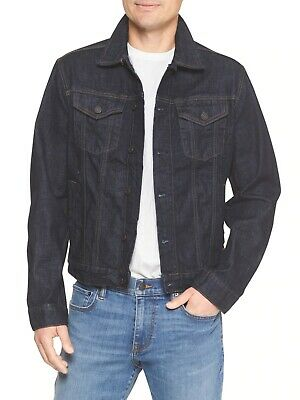 NWT GAP 'FACTORY' Men's Icon Denim Jacket, DARK RINSE  SIZE M      #212743 N0809