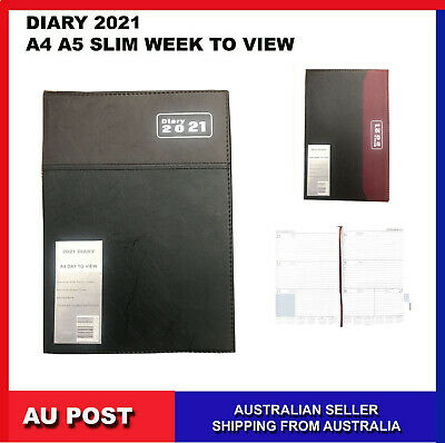 2020  Year Diary A4 A5 B6 SLIM Week to View Open Hard Cover Diary2020 Jan - Dec