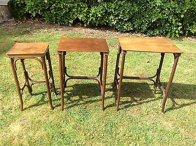 Vintage Nest of 3 tables - Made by Fischel - in Czechoslovakia - Antique