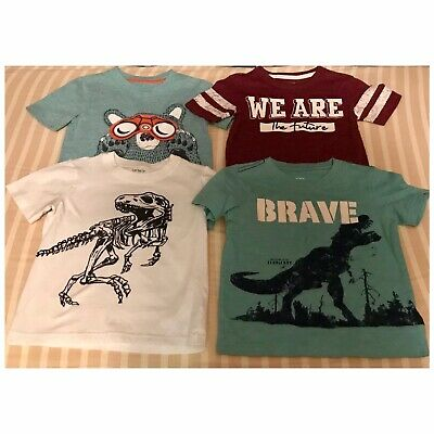 Lot Of 4 Carter's Size 3T Toddler Boys Short Sleeve Tops T-Shirts